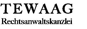 Rechtsanwalt Tewaag | Gewerblicher Rechtsschutz- IP/IT-Recht Logo